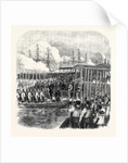Embarkation of the Sultan at Clarence Yard Portsmouth for the Naval Review UK 1867 by Anonymous