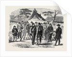 A Visit to the Tycoon of Japan: Part of the Tycoon's Body-Guard Outside the British Minister's Quarters at Osaka 1867 by Anonymous
