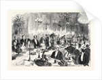 Banquet Given to the Imperial Commissioners of the Paris Exhibition by the Foreign Commissioners in the Hotel Du Louvre France 1867 by Anonymous