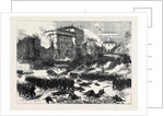 Death of Garibaldi by the Papal and French Troops: The Battle at the Castle of Mentana Italy 1867 by Anonymous