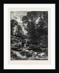 Birkett Foster's Pictures of English Landscape the Stepping-Stones 1862 by Anonymous
