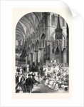 Enthronisation of the Most Rev. Dr. Charles Thomas Longley Lord Archbishop of Canterbury in the Choir of Canterbury Cathedral 1862 by Anonymous