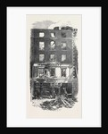 Scene of the Fatal Fire in Westmoreland Street Dublin 1866 Ireland by Anonymous