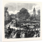 The Marriage of Princess Mary of Cambridge and Prince Teck: Arrival of the Queen at Kew London UK 1866 by Anonymous