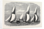 Royal London Yacht Club Cutter Match: The Niobe Sphinx and Vindex Off Coalhouse Point 1866 by Anonymous