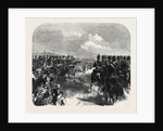 Field-Day at Aldershott: Cavalry Marching Past the Prince and Princess of Wales UK 1866 by Anonymous