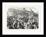 The Tribunes at Longchamps Before the Race for the Grand Prix De Paris France 1866 by Anonymous