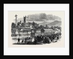 Opening of the Cork and Macroom Railway: Arrival of the First Train at Macroom Ireland 1866 by Anonymous