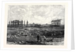 Progress of the Paris Exhibition Building in the Champ De Mars France 1866 by Anonymous