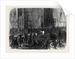 Westminster Hall on the Night of the Division on the Reform Bill London UK 1866 by Anonymous