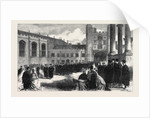 Procession to the Chapel Trinity College Cambridge UK 1866 by Anonymous