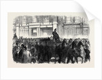 Funeral of One of the Metropolitan Fire Brigade UK 1866 by Anonymous
