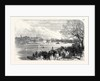 The Oxford and Cambridge University Boat Race: Passing the Crab Tree UK 1866 by Anonymous