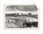 The Oxford and Cambridge Athletic Sports in the Christ Church Meadows Oxford: The Two Mile Race UK 1866 by Anonymous