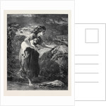 Saved from the Flood, in the Exhibition of the Society of Painters in Water Colours 1871 by Anonymous