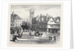Queen-Square Wolverhampton with Statue of the Late Prince Consort 1871 by Anonymous