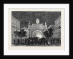 Opening of the Mont Cenis Tunnel: Illuminations at Turin Representing the Tunnel 1871 by Anonymous