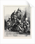 The Famine in Persia: Group of Poor People at Shiraz 1871 by Anonymous