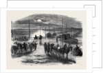 The Civil War in America: The Long Bridge Over the Potomac at Washington Guarded by United States' Artillery by Anonymous