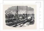 Laird's Graving Docks at Birkenhead: The Hibernia Under Repair by Anonymous