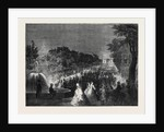 View from the Round Point in the Champs Elysees the Imperial Fetes at Paris by Anonymous