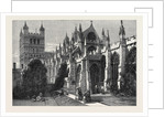 Visit of the British Archaeological Association to Exeter the Cathedral from the South-East by Anonymous