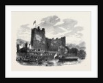 The Queen's Visit to Ireland: Her Majesty Embarking at Ross Castle Lakes of Killarney by Anonymous