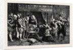 The Gunpowder Plot: Guy Fawkes Being Interrogated by James I and His Council in the King's Bedchamber Whitehall by Anonymous