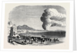 Eruption of Mount Vesuvius Near the Foot of the Hill Between Resina and Torre Del Greco As Seen from the Marinella at Naples December 28 1861 by Anonymous