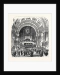 Visit of the Prince of Wales to Leeds: The Mayor's Ball at the Townhall 1868 by Anonymous
