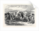 The Abyssinian Expedition: Departure of the Released Prisoners from the Headquarters Camp Plain of Dalanta 1868 by Anonymous