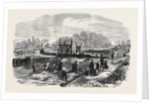 Works in the Bed of the Regent's Park Lake London 1868 by Anonymous