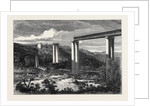 Grand River Railway Bridge Mauritius Destroyed by a Hurricane 1868 by Anonymous