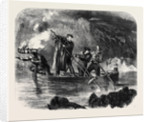 General Garibaldi Spearing Fish by Night Off Caprera by Anonymous