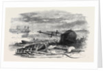 The Recent Gale Scene on the Shore Near Tynemouth February 1861 by Anonymous