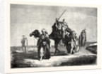 Convoy Funeral in the Desert of Suez, Egypt by Anonymous