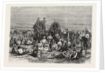 An Encampment of Mormon Converts in the Desert, North America by Anonymous