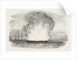Explosion of the Portuguese Frigate Donna Maria II at Typa by Anonymous