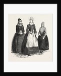 Costumes on the Island of Funen, Denmark: Confirmation Dress, Bridal Dress, Fisherman's Wife by Anonymous