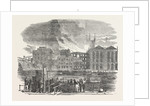 Destructive Fire at Hibernia Wharf, Southwark, London by Anonymous