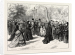The Fete Napoleon at Chislehurst: Reception of the Visitors by the Ex-Empress Eugenie in the Garden of Camden Place by Anonymous