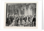 Visit of King Victor Emmanuel to Berlin: Presentation of State Dignitaries to the King on His Arrival at the Palace, Germany by Anonymous