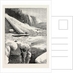 The Niagara Falls in Winter Time: Ice Mountain and American Fall by Anonymous