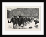 Afghanistan: A Company of the Royal Artillery Crossing the Daranta Ford, Cabul River by Anonymous