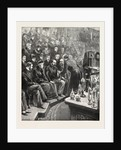The Prince of Wales and the Duke of York at the Royal Institution: Professor Dewar Lecturing on Liquid Air, UK by Anonymous