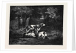 The Dogs in the Forest, by Diaz; Les Chiens Dans La Forêt by Anonymous