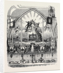 Decoration of Guildhall on Lord Mayor's Day, East End. by Anonymous