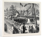 The Recent Outrage on the British Consul at Guatemala: The Guatemalan Troops Saluting the British Flag in the Plaza, San José, 4th September, 1874 by Anonymous