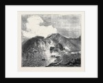 View of Great Crater, Vulcano, from the Sea, with Residence and Works by Anonymous