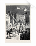 The Preston Guild Festival: The Torchlight Procession Passing County Buildings by Anonymous